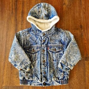 VINTAGE Levi's Child's Sherpa-Lined Demin Jacket